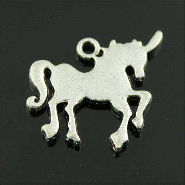 Шарм Lucky Horn Horse Lucky Horn Horse Подвеска Подвески Для Изготовления Ювелирных Изделий Старинное Серебро Lucky Horn Horse Подвески 30x24 мм