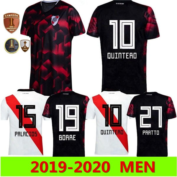 Home Plate 2020.2019 2019 2020 River Plate Home White Soccer Jersey River Plate Away Black G Martinez Quintero Pratto Soccer Shirt 19 20 River Football Uniform From