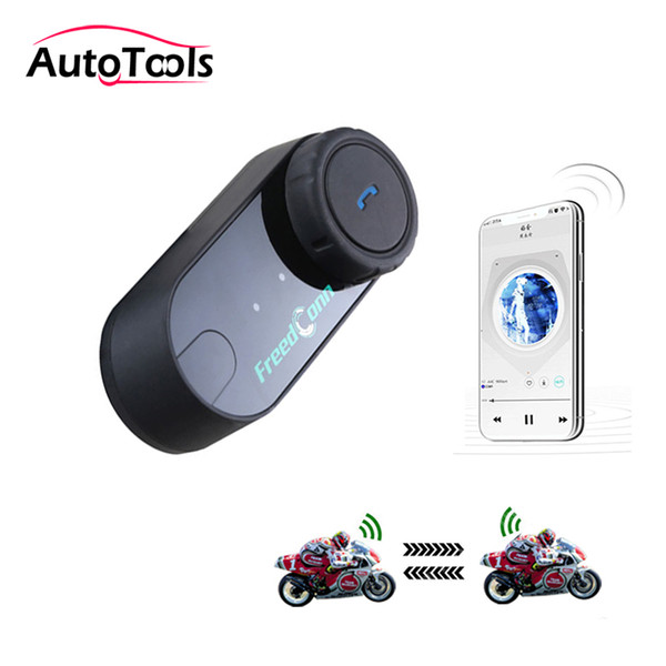 1 unid T-COM VB Casco de motocicleta Auriculares inalámbricos bluetooth manos libres altavoz 800M intercomunicador distancia accesorios de motocicleta