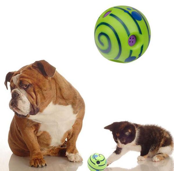 Respetuoso del medio ambiente Interesante Wobble Wag Giggle Bolas Mascotas Perros Pelota Juguetes Mastica Jugar Herramientas de entrenamiento Con un sonido divertido Hacer a los perros felices