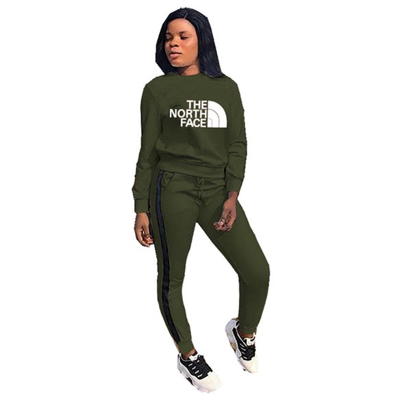 The North NF Marke Tracksuits Frauen schwitzten Sport Outfit GESICHT PulloverHoodies Hosen zweiteiligen Kleidung Set Sport Jogger Anzug C120301