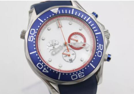 nouvelle étagère commandant de la mer océan montre classique de la mode James Bond, bracelet en caoutchouc bleu, boucle originale, montre