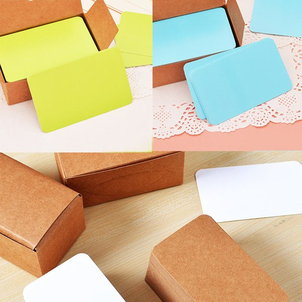 100pcs Vintage Blank Card DIY Greeting Cards Graffiti Word Cards Wedding Party Gift Thick Kraft Paper Postcards WXV Sale
