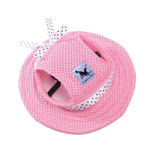 Pet Dog Hats for Small Size Dogs Visor Design Fashion Dogs Baseball Sun Hats Sport Cap with Ear Holes and Chin Strap