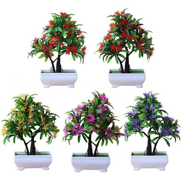 Simulation Fleur En Pot De Plante Floral Vert Bonsaï Décoration Petit Bonsaï Artificielle Décoration De Table De Table Ornement