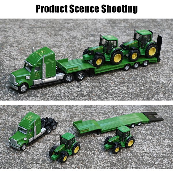Siku 1:87 Alloy Truck Tractor Toy Simulação reboque caixa aberta Transporte Veículo modelo Trail Tratores Models Carros brinquedos para as crianças Y200109