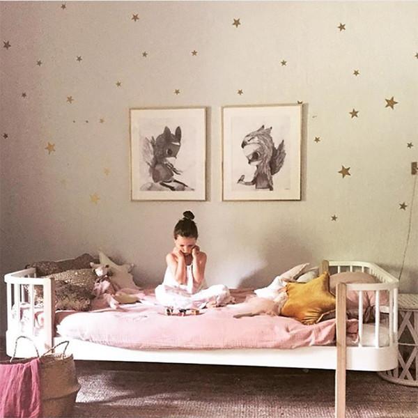 Berçário do bebê Berçário Do Bebê Estrelas Estrelas Estrelas Estrelas Decalque Crianças Quarto Adesivo de Parede Para Quarto de Crianças Fácil Arte Da Parede Decoração de Casa
