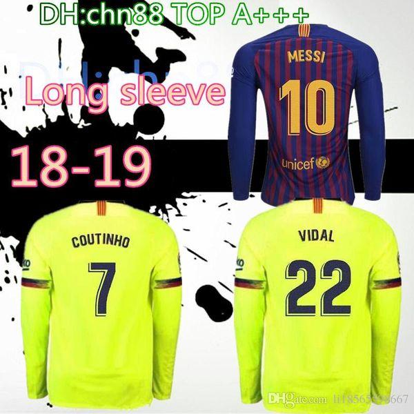 d1023bc4b28 2018 2019 FC Barcelona MESSI Soccer Jersey men home away Jersey 18 19  Suárez DEMBELE COUTINHO