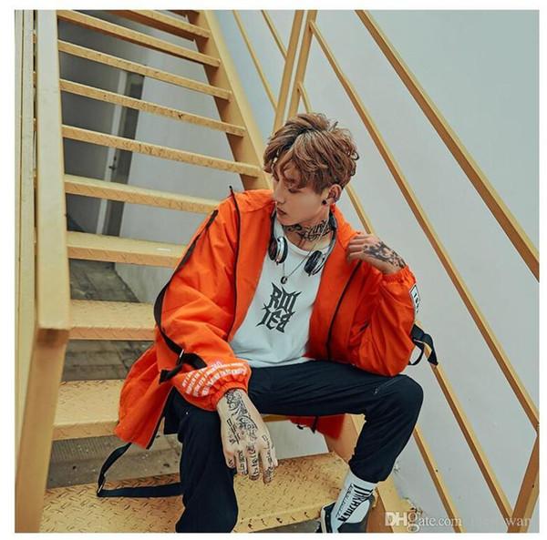 Windbreaker Hoodie Jacket Men's Autumn new Pocket design Hip-hop loose Jackets Streetwear Classic High quality Coats M L XL XXL