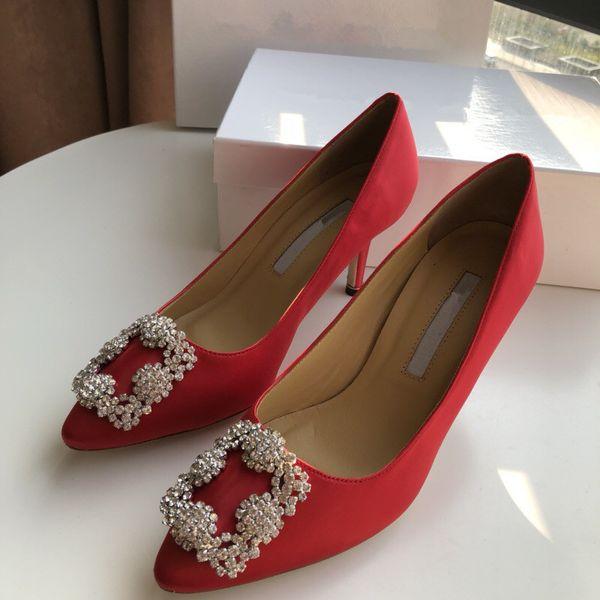 Luxury Designer Heels 6cm bride rhinestone crystal diamond glitters high heeled party prom pumps wedding yc19031205