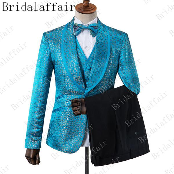 small flower blue suit