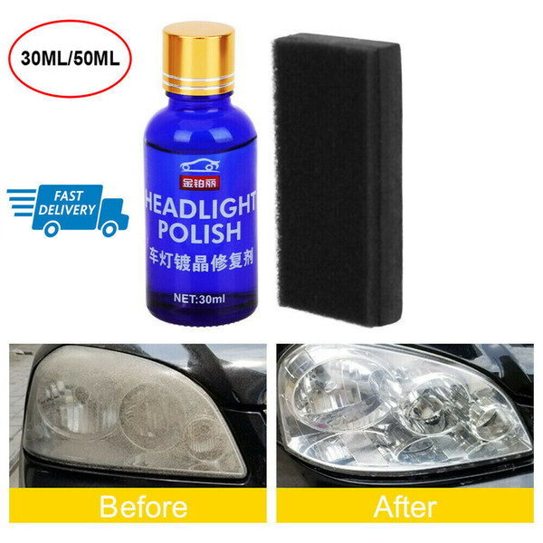 top popular 50ML 9H Auto Car Headlight Len Restorer Repair Liquid Polish Cleaning Tool cleaning tools organizer 2021