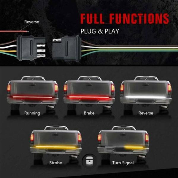 Truck LED Strip Tailgate TailLight Reverse Brake Turn Signal Light For Car