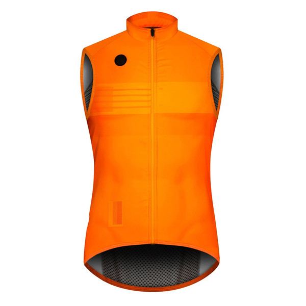 top popular 2019 Orange autumn Top quality PRO TEAM lightweight windproof cycling GILET men or women cycling Windbreak vest wind vest 2020