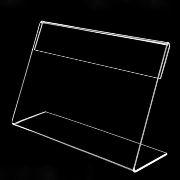 10 Pack Of A6 10x15cm Clear Acrylic Sign Display Paper Promotion Card Frame Table Label Holder L Stand Horizontal High Quality