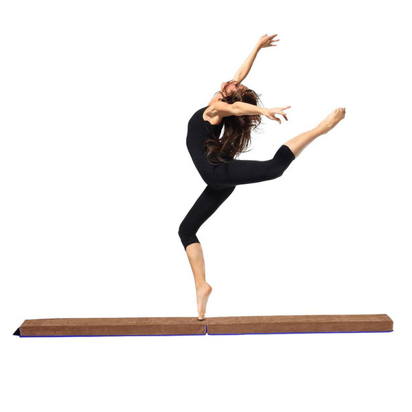 New Suede Gymnastics Folding Balance Beam Home Gym Training Gift 8ft Suitable for Young Gymnasts Cheerleaders