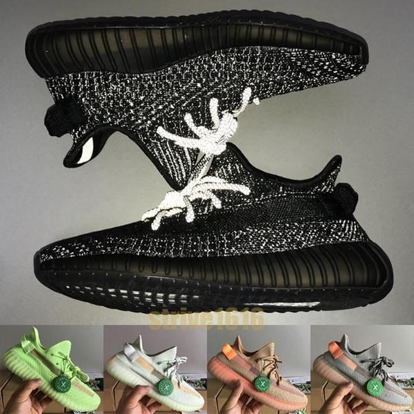 best selling Best Black Reflective Kanye West Glow In The dark Static True Form Mens Womens Running shoes Sesame platform designer Sneaker US 5-13