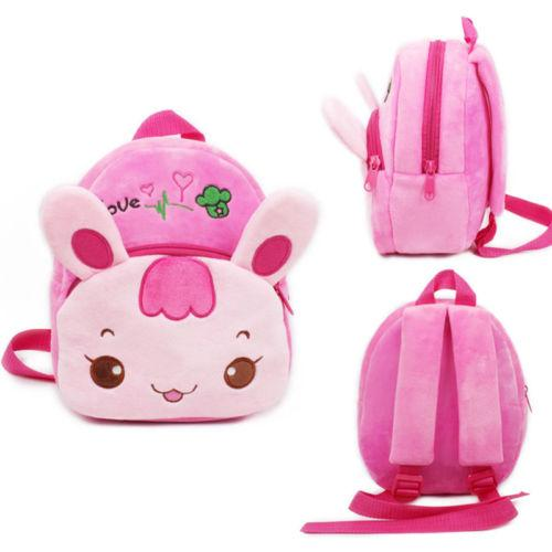 Cute Hot Kid Toddler Backpack Kindergarten Portable Cotton Travel Schoolbag 3D Cartoon Animal Samll Bag