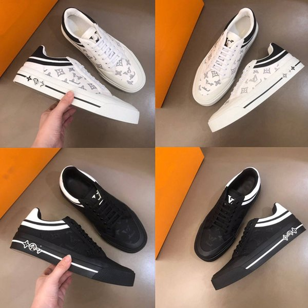 best selling High quality canvas New Famous Low to help brands shoe embroidered Casual Shoes Mens Unisex Leather Sneakers Designer Sports shoes size38~45