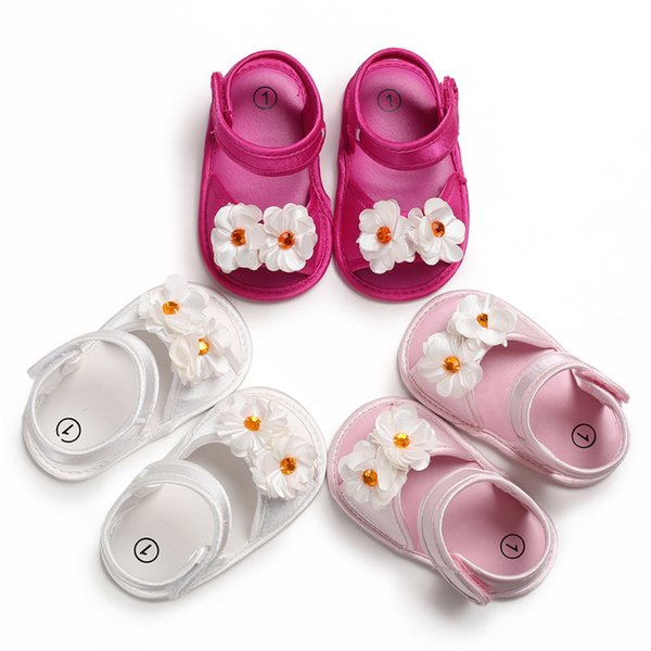0-1Y baby girls summer shoes toddler girl soft sole breathable princess flower shoes sandals for baby girls little girl