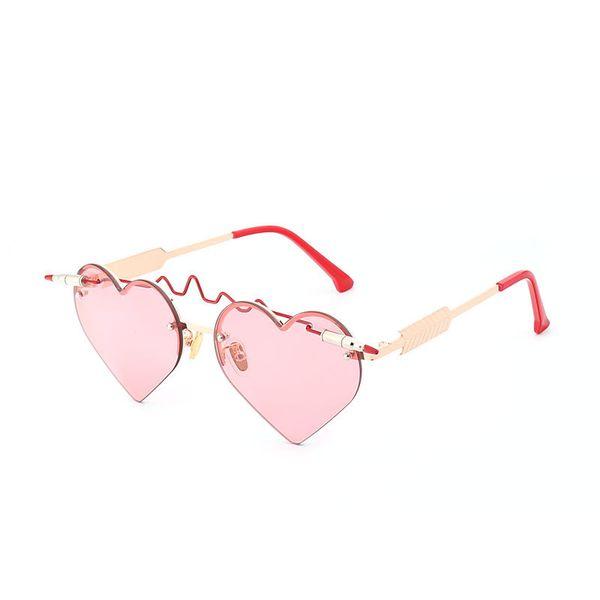 APB01 Heart Shaped Sunglasses Wholesale Rimless Frameless Bullet Pass Through Lens Novelty Glasses Quality BOTERN EYEWEAR Free Shipping All