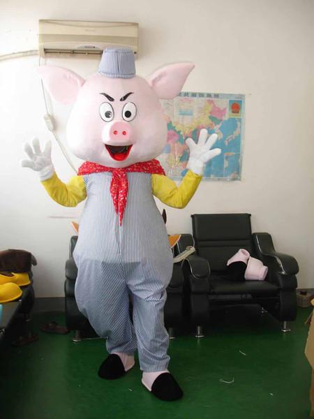 2019hot venda azul calças de porco Fancy Dress Animal Dos Desenhos Animados Adulto Mascot Costume frete grátis