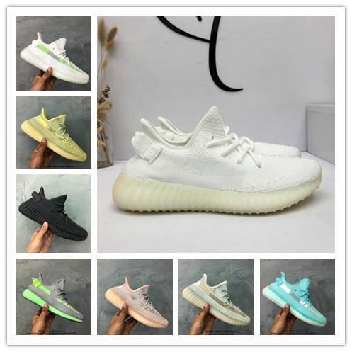 Kanye West Grey Zebra Lundmark Static Refective Hombres Mujeres Amarillo Jaune Sports SPLY Training Sneakers V2yeezysyeezy350