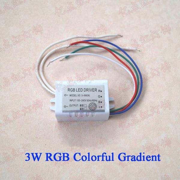 RGB 3-6W التدرج ملون