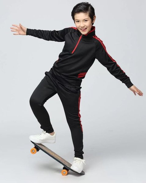 Football Clothing Suit half Zipper Children's Clothing Men and Women Sportswear Training Team Uniforms Long-Sleeved Track Suit 236