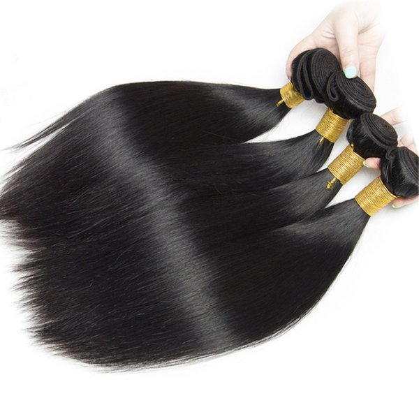 Free shipping Top quality 100% Brazilian virgin human hair weft silky straight hair weaving with double weft 3 pcs /lot