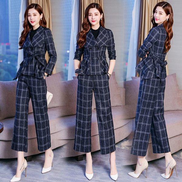 Women's suit pants suits for women women's fashion slim slimming asymmetric suit two-piece suit (coat + pants) woman's suits