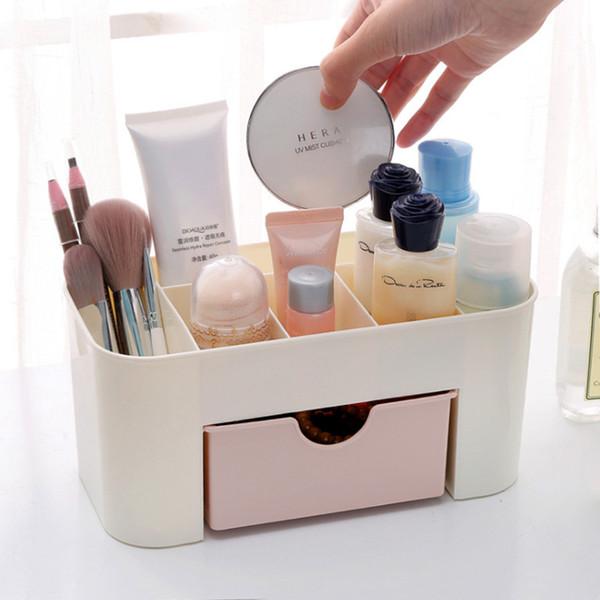 Plástico da gaveta caixa de armazenamento tipo cosméticos área de trabalho batom organizadores escova material de escritório acabamento caixa mx12271647