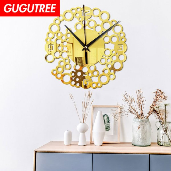 Decorate Home 3D number mirror clock art wall sticker decoration Decals mural painting Removable Decor Wallpaper G-50