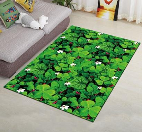 Creative Rugs European Flowers Living Room Carpet Type 3D Printing Hallway Doormat Anti-Slip Bathroom Kitchen Mat