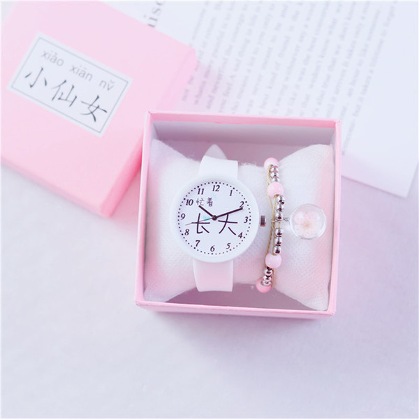 Cheap Newly Arrived woman designer watches Pink silicone watch band Wrist Watches Cute Style Iady Watches Students Clock wholesale