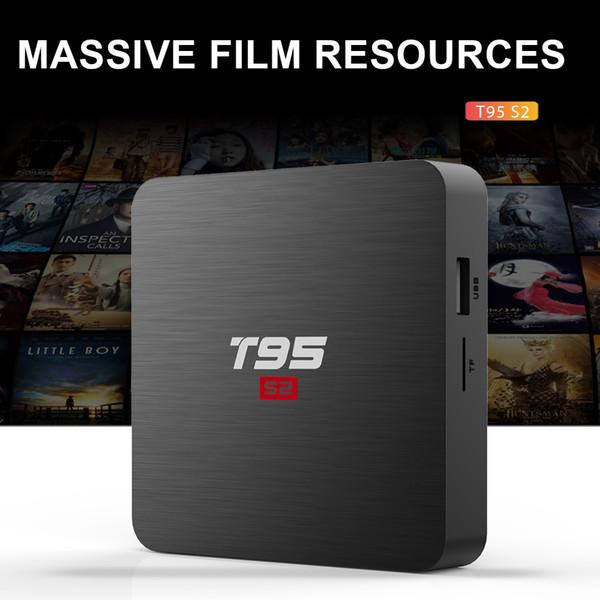 T95 S2 Android 7.1 OS Inteligente Caixa de TV Amlogic S905W Quad Core WiFi Set top box 1 GB 8 GB T95S2 PK X96mini