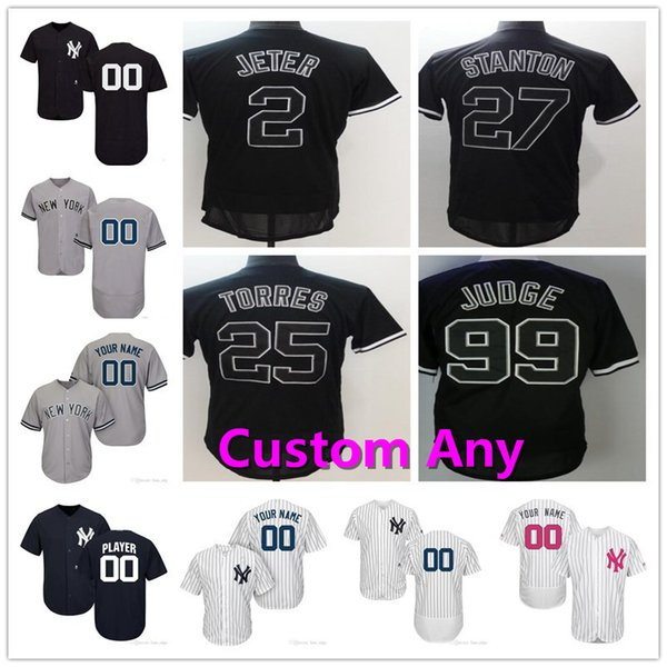 promo code 90a84 71fb2 2019 Mens Lady Kid Aaron Judge Derek Jeter Gleyber Torres Stanton Didi  Gregorius Gary Sanchez Chapman Severino Andujar NY Yankees Youth Jerseys  From ...