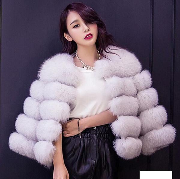 Harajuku 2019 Autumn Winter coat warm casacos femininos Faux fur vest outerwear womens FAUX fur coat Fake Jacket Overcoat
