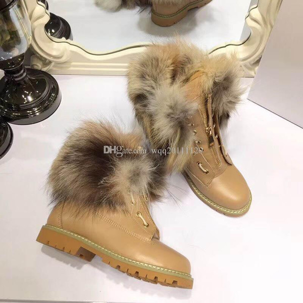 Embroidered Martin boots female high heel 2018 autumn and winter new leather stars lace-up short boots pearl
