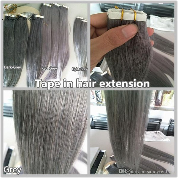 100g 40pcs Tape In Human Hair Extensions 16 18 20 22 24inch #613/Beach Blonde color Adhesive Skin Wefts PU Tape in Hair, free DHL