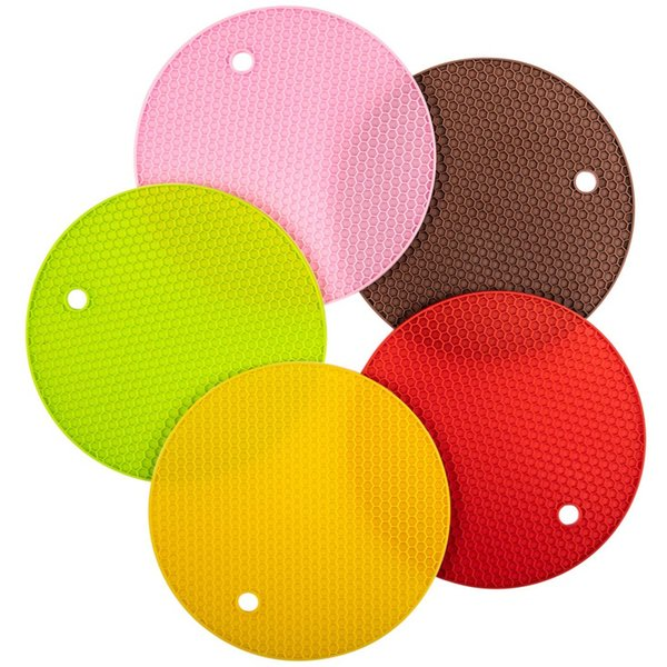 Silicone Pot Holder and Oven Mitts,Multipurpose Non-Slip Insulation Honeycomb Rubber Hot Pads Trivet,Heat Resistant Antislip P