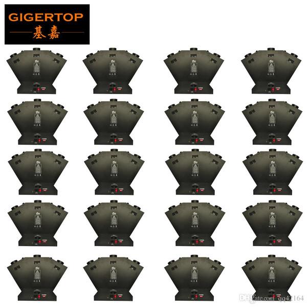 gigertop 20XLOT 3 têtes feu machine Triple machine à flamme DMX projecteur de flamme pour Wedding Party scène Disco Effets LLFA