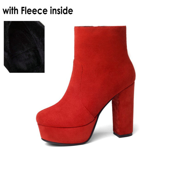 red-with fleece
