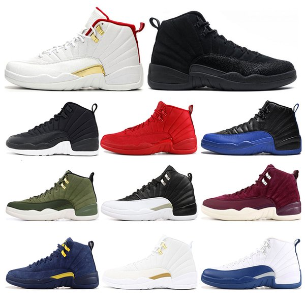 2019 Hotsale mens basketball shoes 12s top quality FIBA Game Royal GYM RED Athletics THE MASTER mens trainers sports sneakers size 7-13