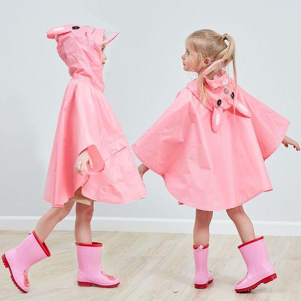 Rain poncho Raincoat for Children Rain Coat Kids Cloak Type Rainwear Rain Coat Printed Poncho Kids Rainproof Student Rainsuit