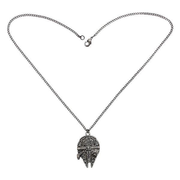 top popular Vintage Gun Black Cartoon Avatar Alloy Pendant Necklace Jewelry 2021