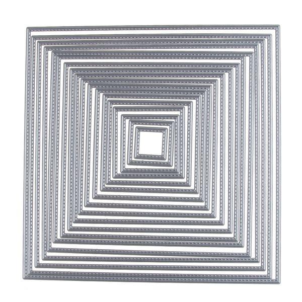 Carbon Metal Cutting Dies 195*195mm Square Set Scrapbooking Embossing Dies Cut Stencils Paper Cards DIY Decorative