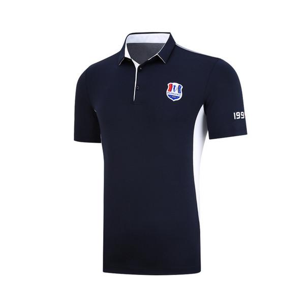 2019 Golf Shirts Men Sportswear Golf Apparel Outdoor Men Sports Short-sleeved Shirts Turn Down Collar Fitness Sportswear
