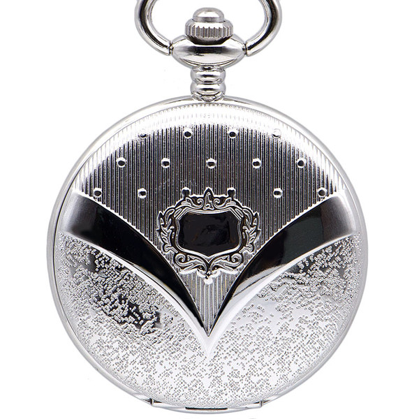 Drop Shipping Whole Silver Mens Luxury Mechanical Pocket Watch Men Vintage Carving Skeleton Watch Fob Clock Male Unisex