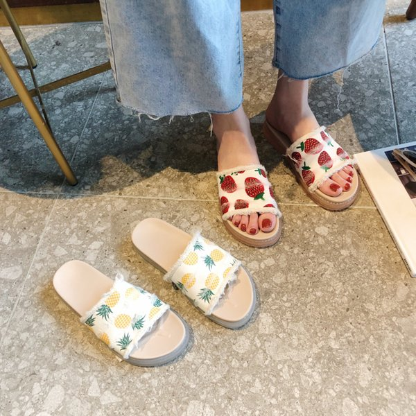 Shoes Without Heel Low Slippers Platform Socofy Beach Women Slides Fenty Beauty Flat Soft 2019 Sliders Luxury Rubber PU Casual